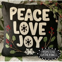 Peace Love Joy Pillow