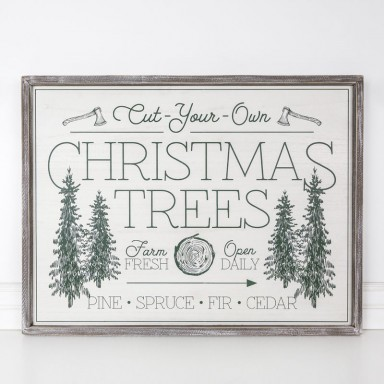 Wood Cut Your Own Trees Sign