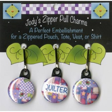 Jodys Zipper Pull Charms-Quilter