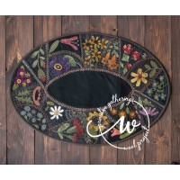Flower Garden Crazy Table Mat