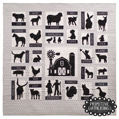 On The Farm-Wool Appliques