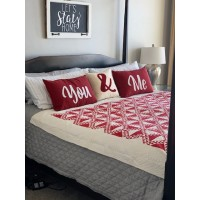 Valentine's Day Pillow and Quilt Set