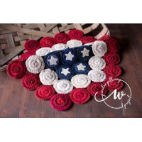 Star Spangled Penny Mat