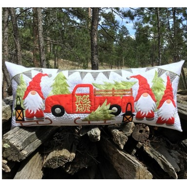 Gnome for the Holidays Bench Pillow