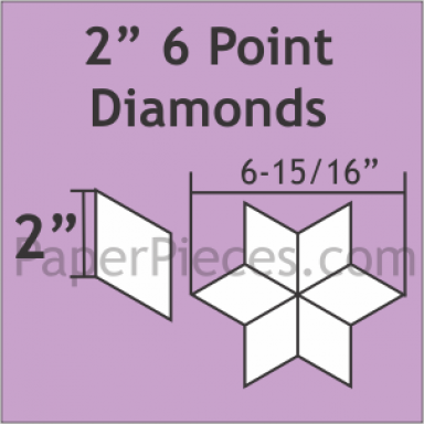 "2"" 6 Point Diamonds: Small Pack"