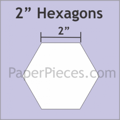"2"" Hexagons Small Pack"