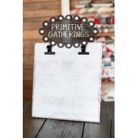 White Wood Clipboard Stand