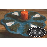 Snowy Gathering Candle Mat