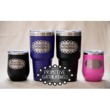 12 Ounce Wine Tumbler  With Lid