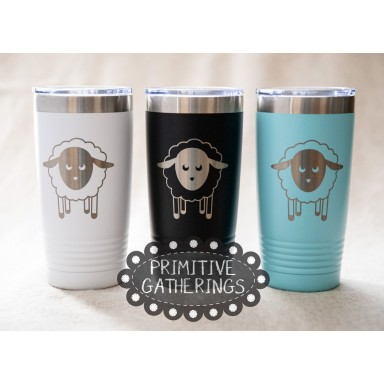 16 Ounce Sheep Tumbler With Lid