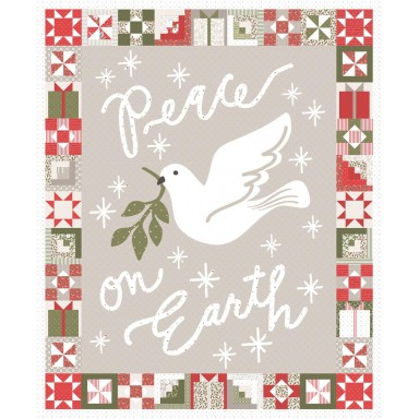 Peace On Earth Quilt Panel
