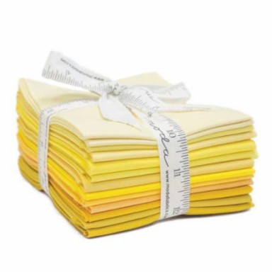 Bella Solids Fat Quarter Bundle-Yellows