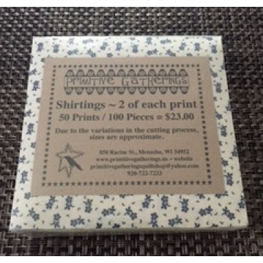 "Shirtings 5"" Charm Pack-100 Pieces"