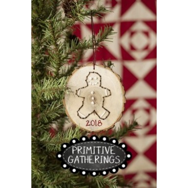 Gingerbread Wood Cut Out Ornament