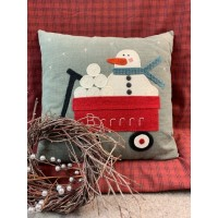 My Wooly Red Wagon-Snowman Block