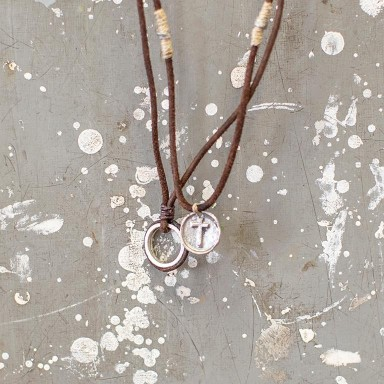 Circle and Coin Necklace