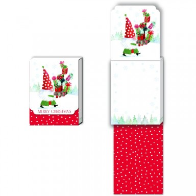 Merry Christmas Gnome Notepad