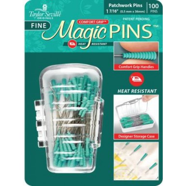 Magic Pins Quilting Fine 1 7/16 Green Package-100ct.