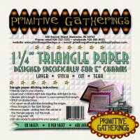 """1 1/4"""" Triangle Paper for 5"""" Charms"""