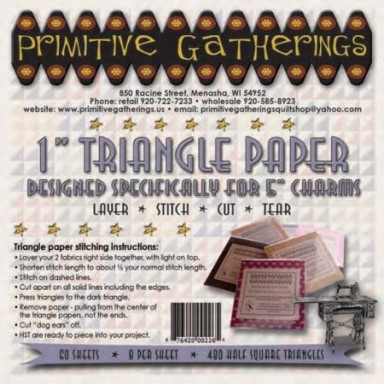 "1"" Triangle Paper-For Charms"