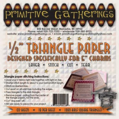 """1/2"""" Triangle Paper-For Charms"""