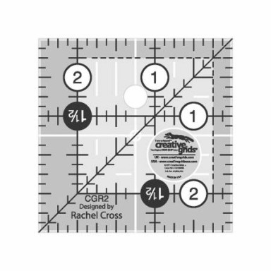 """Creative Grids Quilting Ruler 2 1/2"""" X 2 1/2"""""""