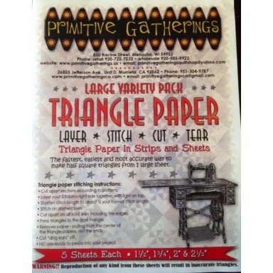 Large Variety Pack Triangle Paper