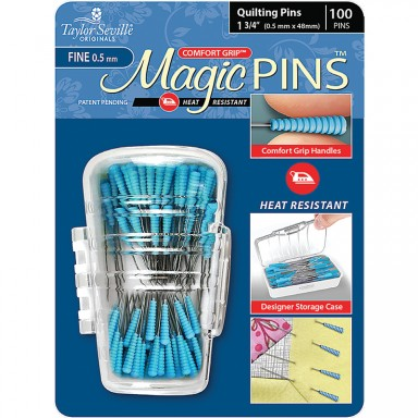 Magic Pins Quilting Fine 1.75-Blue Package-100ct