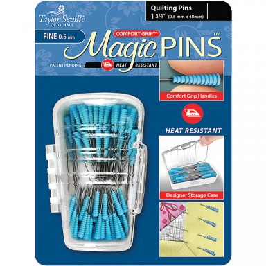 """Magic Pins Quilting Fine 1.75"""" Blue Package- 50ct"""