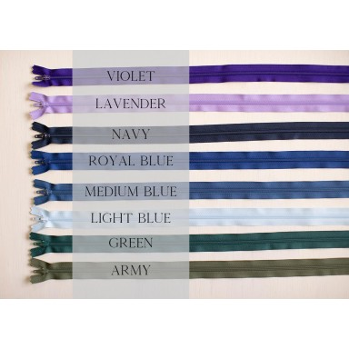 """24"""" Zippers-Cool Colors"""