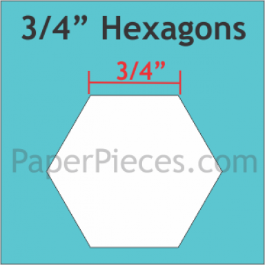 """SBOWHH 3/4"""" Hexagon Papers"""