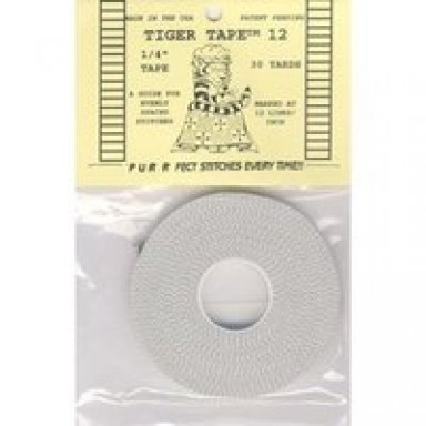Tiger Tape1//4-12 Lined Stitching Tape 30 yards White