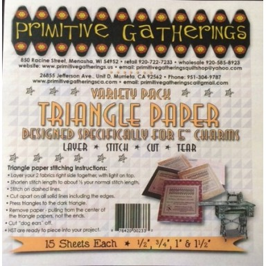 "Variety Pack for 5"" Charms Triangle Papers"