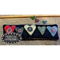 Primitive Hearts Pincushion