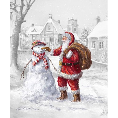 Christmastime Is Here Wintertime Friends Panel