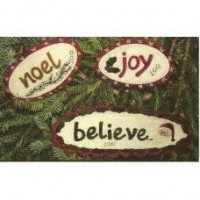 Joy Noel Believe Christmas Ornies