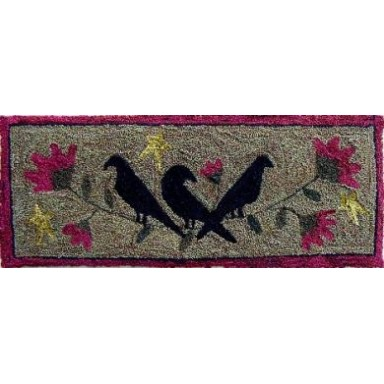 Three Old Crows Punchneedle