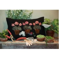 Potted Geranium Pillow