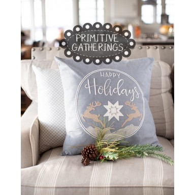 Happy Holidays Pillow