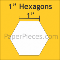 """1"""" Hexagon Large Pack"""
